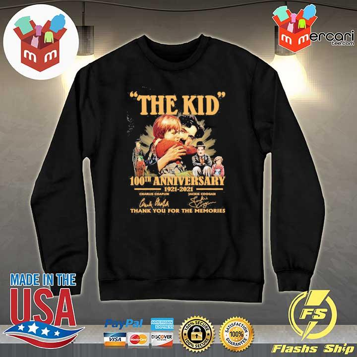 Official the kid 100th anniversary 1921 - 2021 charlie chaplin jackie coogan signatures thank you for the memories Sweater