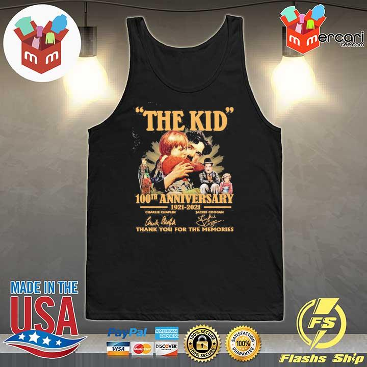 Official the kid 100th anniversary 1921 - 2021 charlie chaplin jackie coogan signatures thank you for the memories Tank-Top