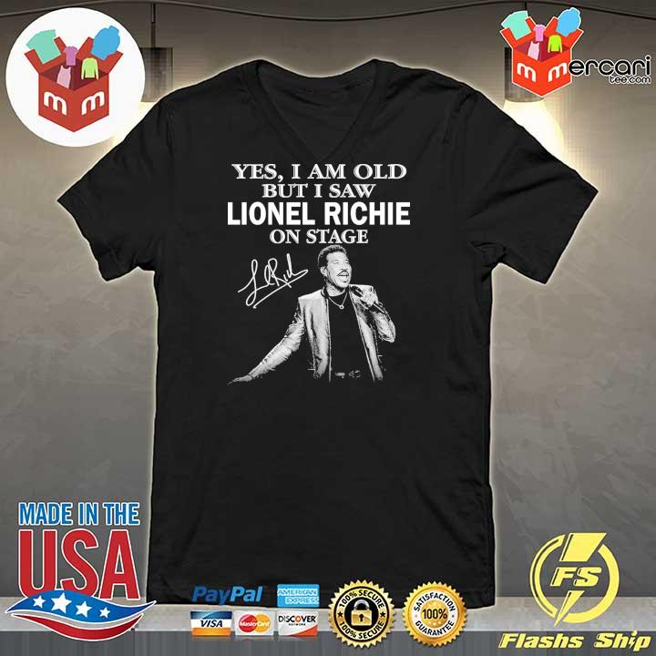 Official yes i am old but i saw lionel richie on stage signature V-neck