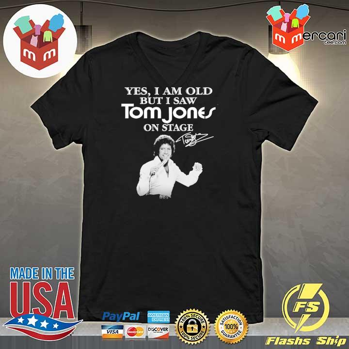 Official yes i am old but i saw tom jones on stage signature V-neck
