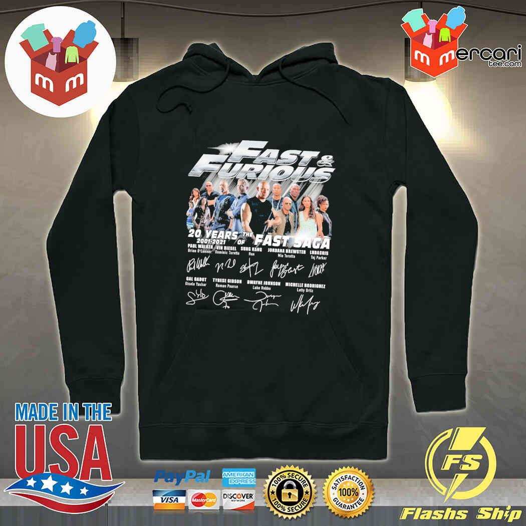 Fast And Furious 20 Years Of The Fast Saga 2001 2021 Signatures Shirt hoodie