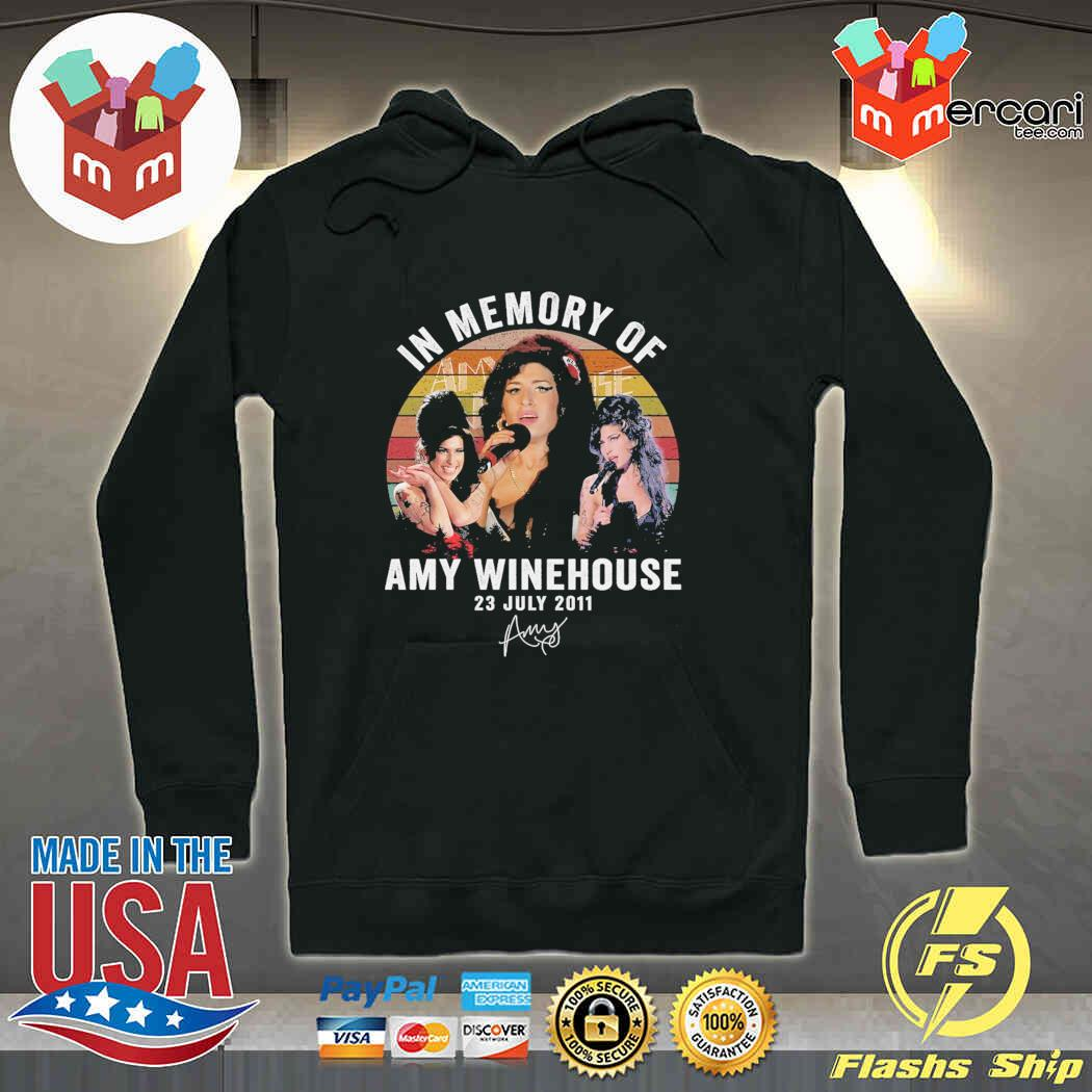 In Memory Of Amy Winehouse 23 July 2011 Signature Vintage Shirt Hoodie Sweater Long Sleeve And Tank Top