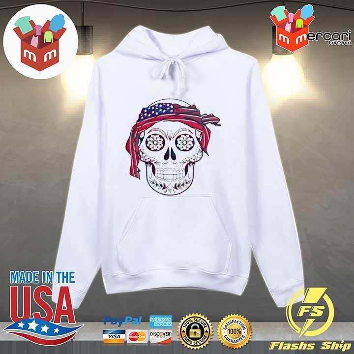 AMERICA FLAG HEADBAND SKULL DÍA DE LOS MUERTOS SHIRT Hoodie