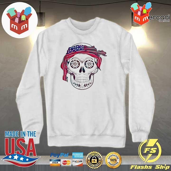 AMERICA FLAG HEADBAND SKULL DÍA DE LOS MUERTOS SHIRT Sweater