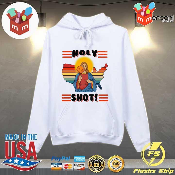 American Basketball Jesus Holy Shot Vintage Shirt Hoodie
