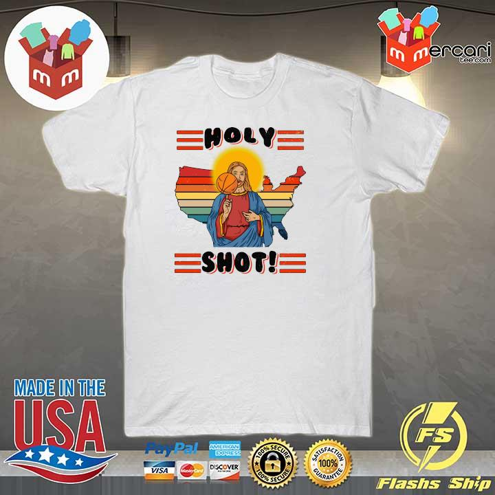American Basketball Jesus Holy Shot Vintage Shirt