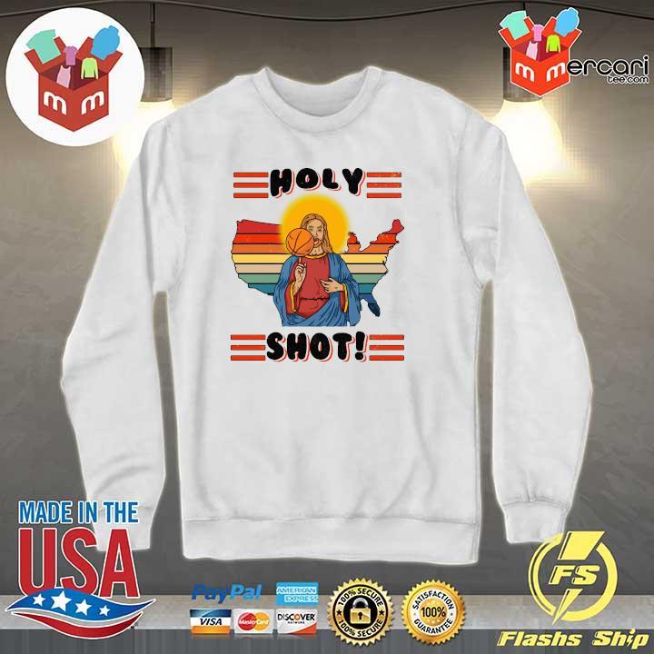 American Basketball Jesus Holy Shot Vintage Shirt Sweater