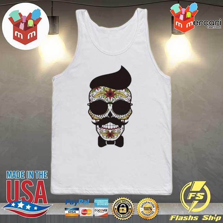 Funny Sugar Skull Gentlemen Day Of Dead Dia De Muertos Shirt Tank-top