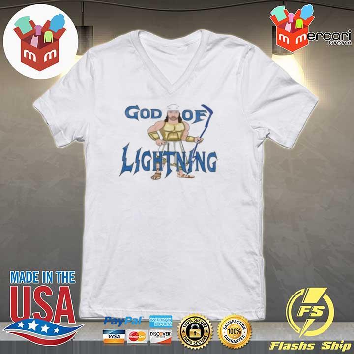 God Of Lightning Tee Shirt V-neck