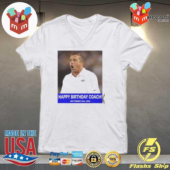 HAPPY BIRTHDAY COACH 23 9 2020 Shirt V-neck