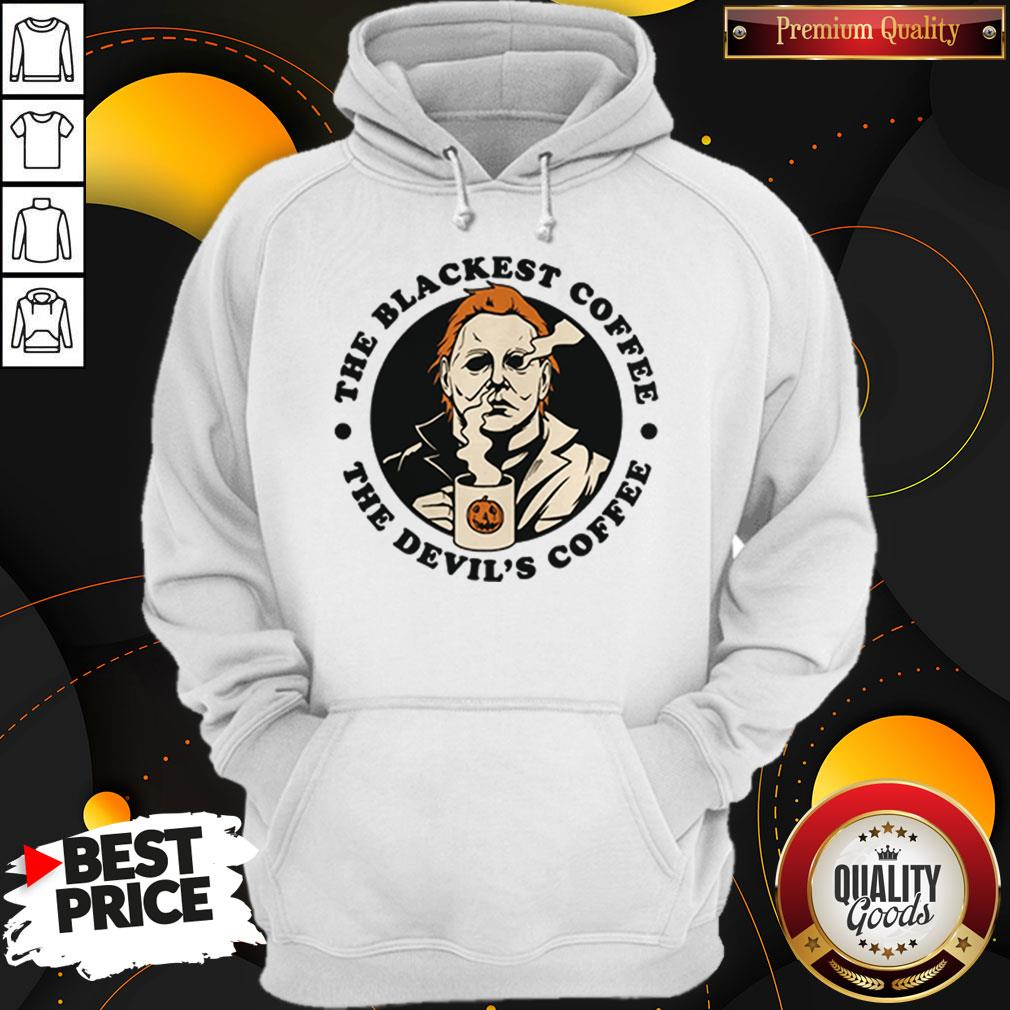 Michael Myers The Blackest Coffee The Devil's Coffee Hoodie