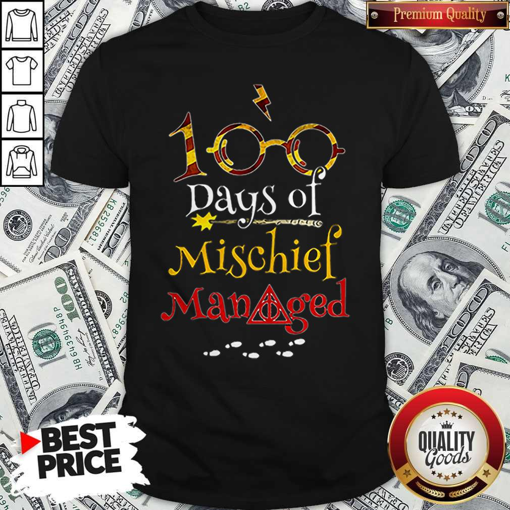 Teacher 100 Days Of Mischief Managed Harry Potter Shirt