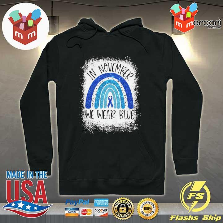 Top In November We Wear Blue Diabetes Awareness Shirt Hoodie