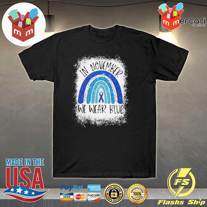 Top In November We Wear Blue Diabetes Awareness Shirt