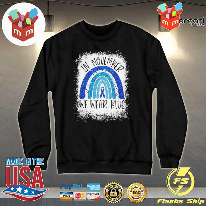 Top In November We Wear Blue Diabetes Awareness Shirt Sweater