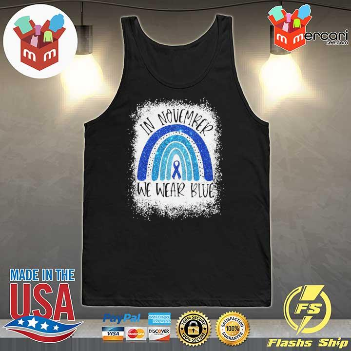 Top In November We Wear Blue Diabetes Awareness Shirt Tank-Top
