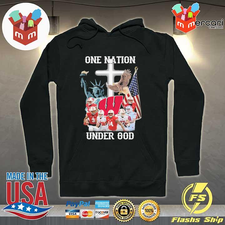 Wisconsin Badgers One Nation Under God Shirt Hoodie