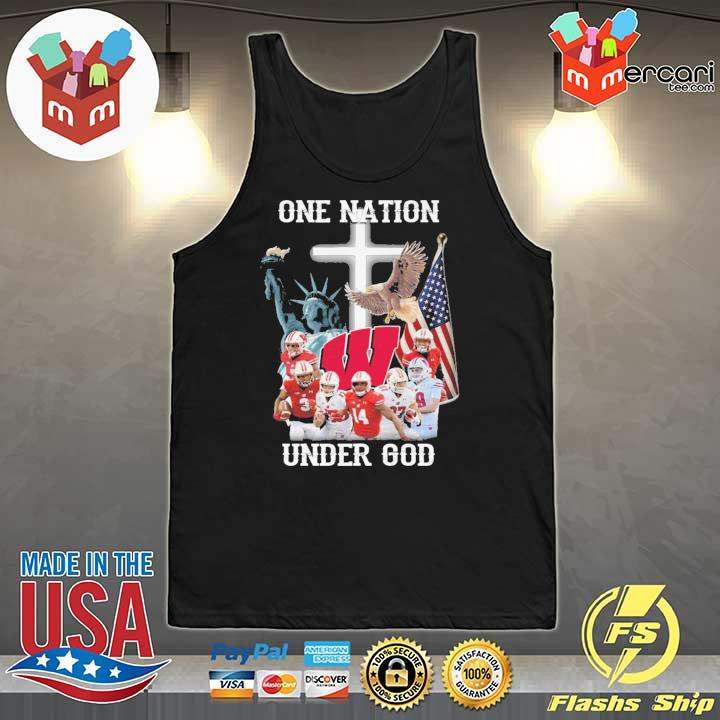 Wisconsin Badgers One Nation Under God Shirt Tank-Top
