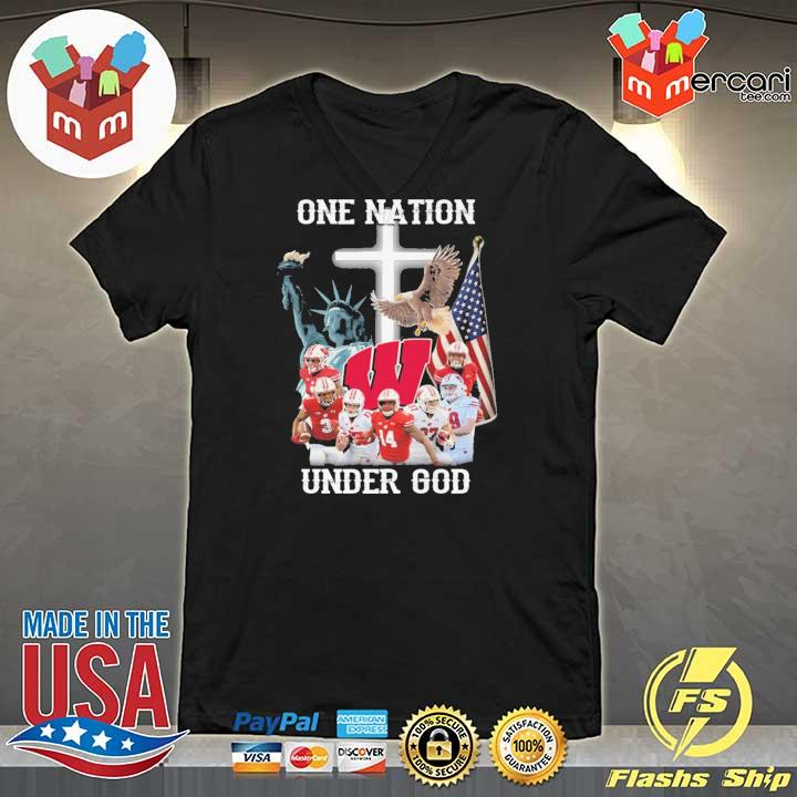 Wisconsin Badgers One Nation Under God Shirt V-neck