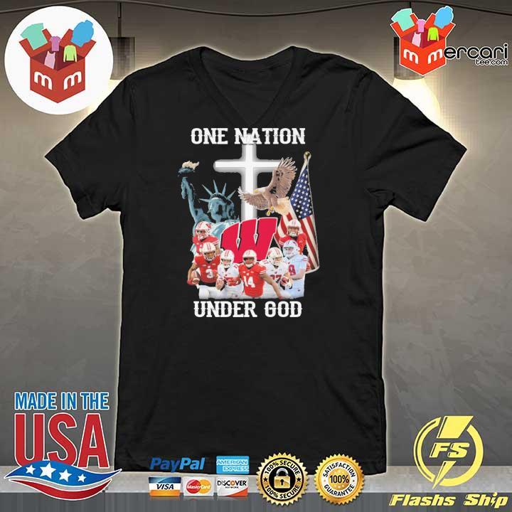 Wisconsin Badgers One Nation Under God Shirt V-neck
