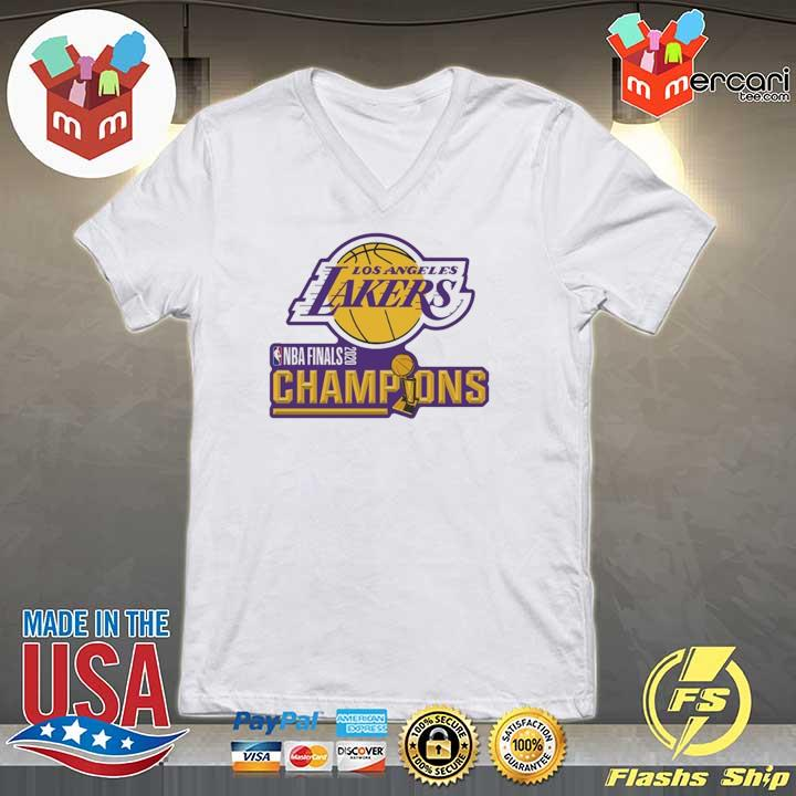 2020 Los Angeles Lakers Champions Shirt V-neck