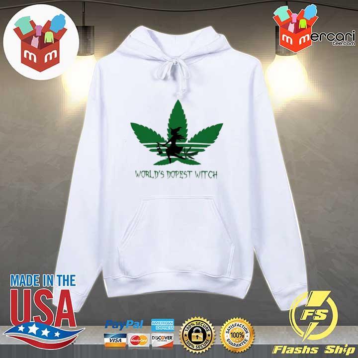Adidas Weed Cannabis Worlds Dopest Witch Shirt Hoodie
