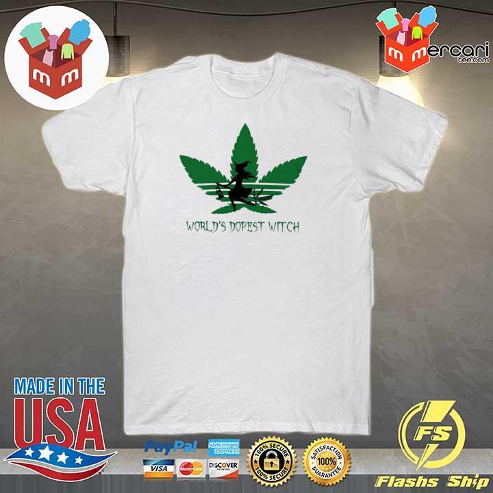 Adidas Weed Cannabis Worlds Dopest Witch Shirt