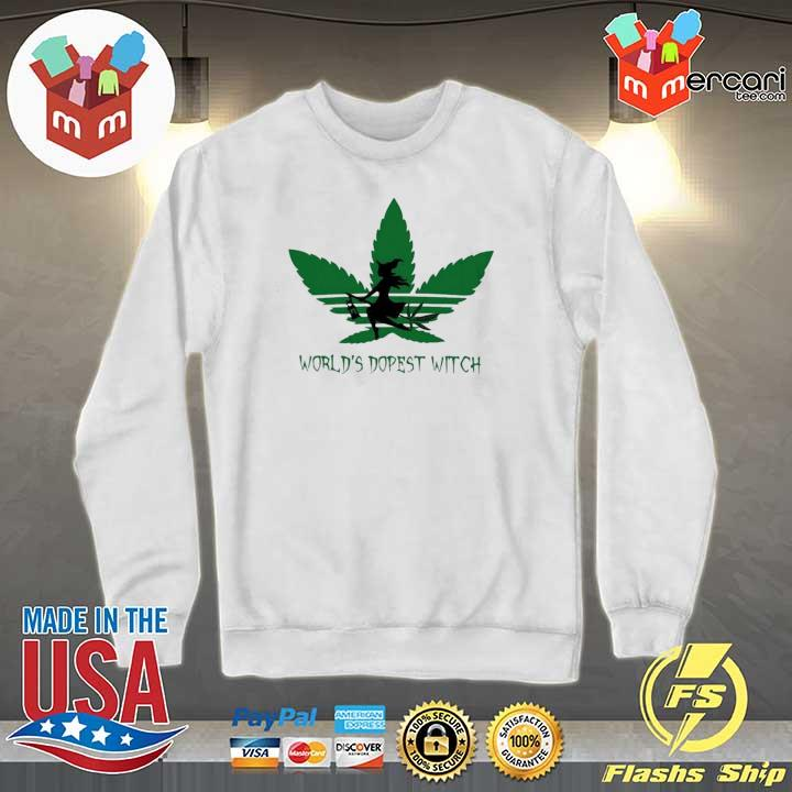 Adidas Weed Cannabis Worlds Dopest Witch Shirt Sweater