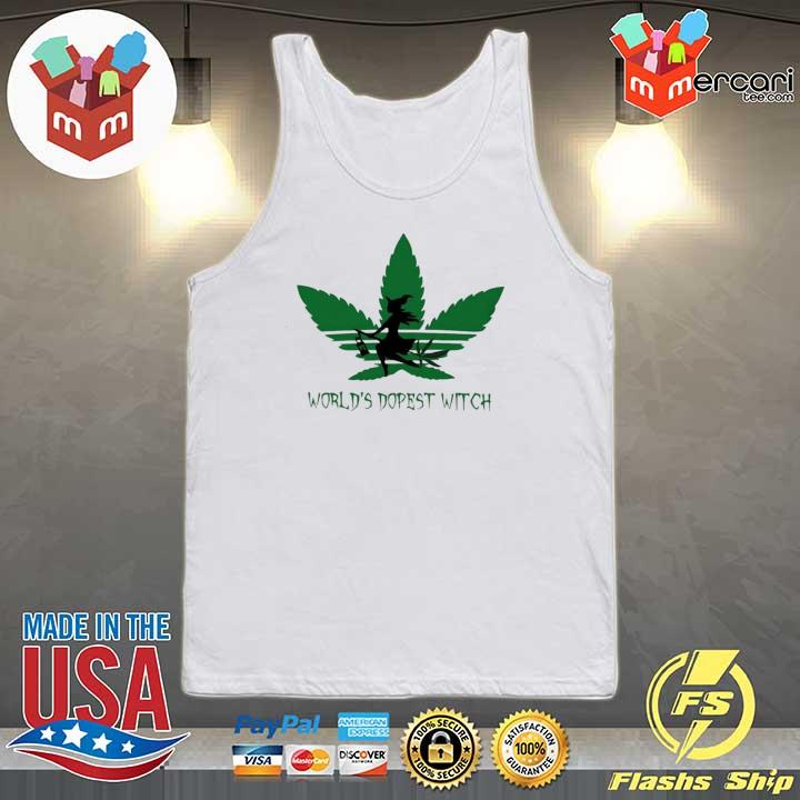 Adidas Weed Cannabis Worlds Dopest Witch Shirt Tank-top