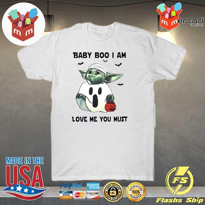 Baby Yoda Baby Boo I Am Love Me You Must Halloween Yoda T-Shirt