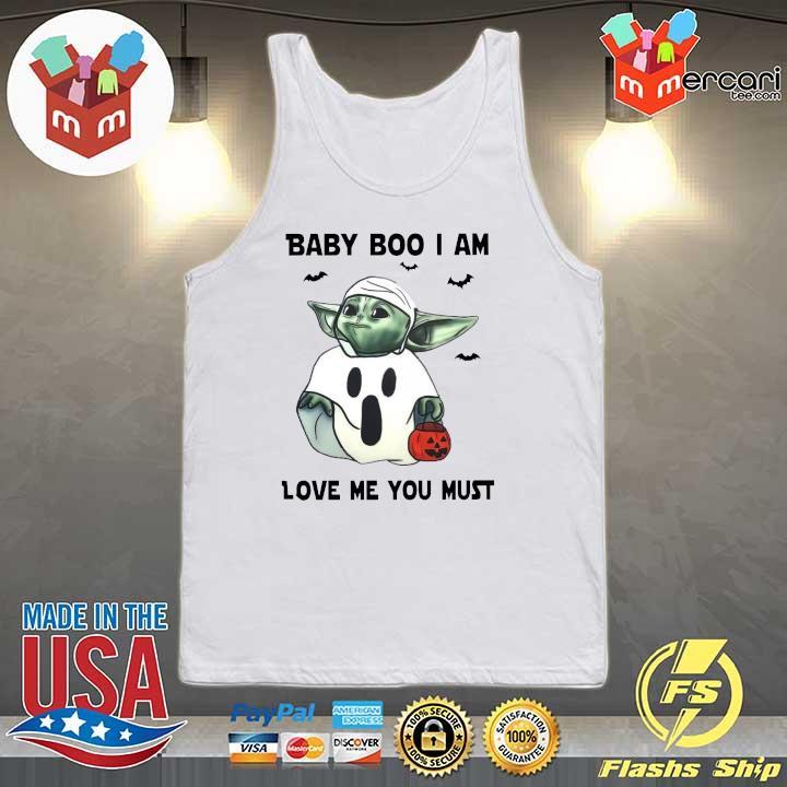 Baby Yoda Baby Boo I Am Love Me You Must Halloween Yoda T-Shirt Tank-top