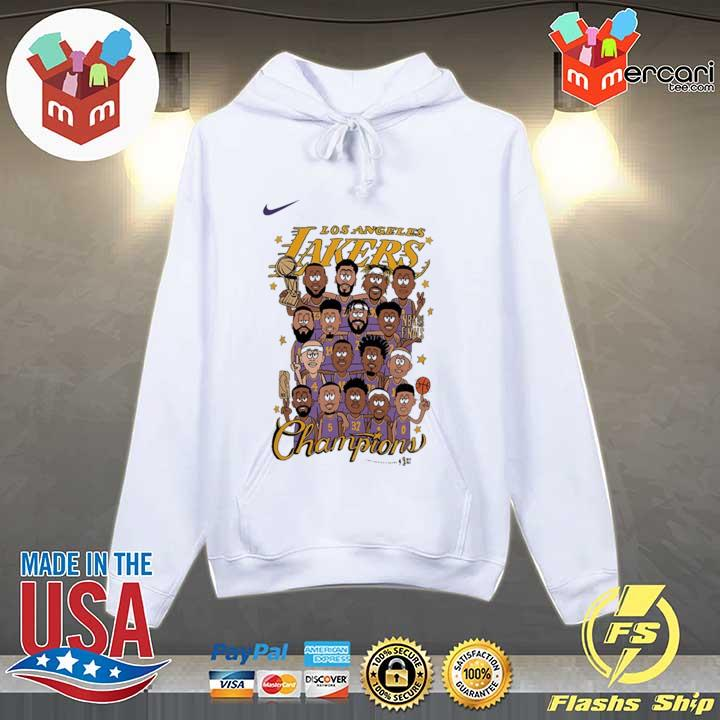Los Angeles Lakers 2020 NBA Champions Roster Shirt Hoodie
