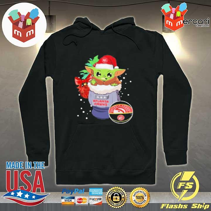 2020 atlanta hawks christmas baby yoda star wars funny happy nba sweats Hoodie
