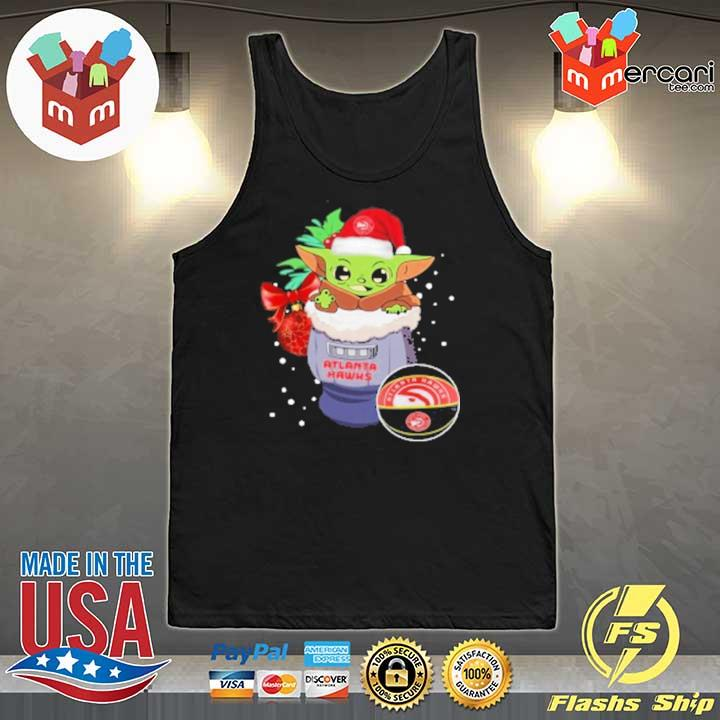 2020 atlanta hawks christmas baby yoda star wars funny happy nba sweats Tank-Top