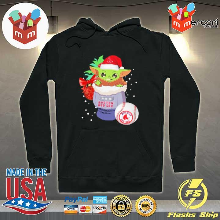 2020 boston red sox christmas baby yoda star wars funny happy mlb sweats Hoodie