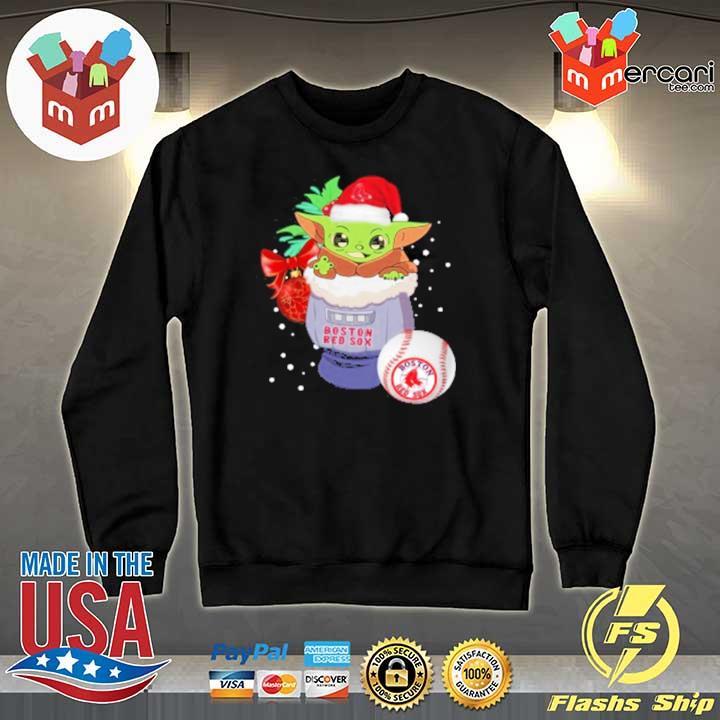 2020 boston red sox christmas baby yoda star wars funny happy mlb sweats Sweater