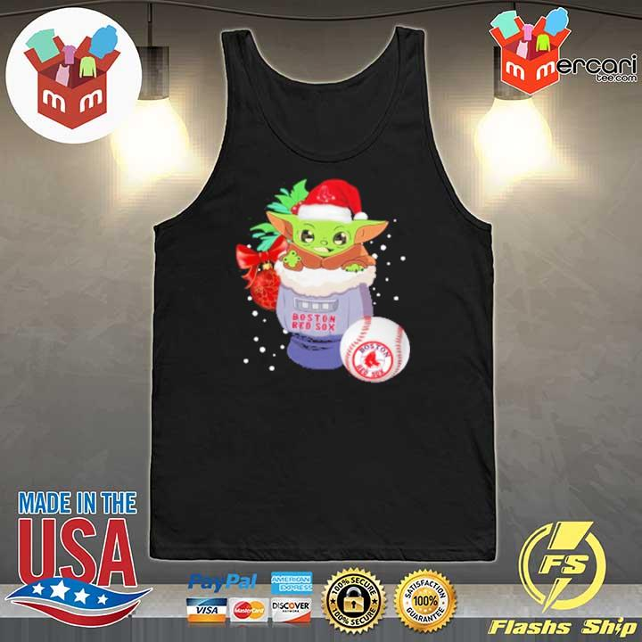 2020 boston red sox christmas baby yoda star wars funny happy mlb sweats Tank-Top