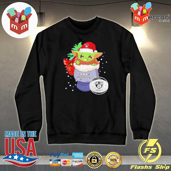 2020 brooklyn nets christmas baby yoda star wars funny happy nba sweats Sweater