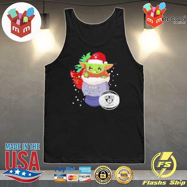 2020 brooklyn nets christmas baby yoda star wars funny happy nba sweats Tank-Top