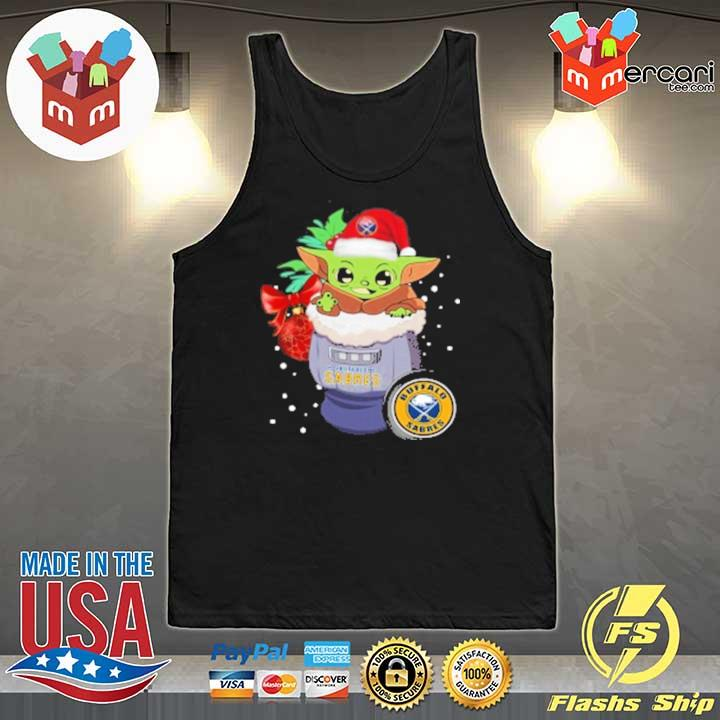2020 buffalo sabres christmas baby yoda star wars funny happy nhl sweats Tank-Top