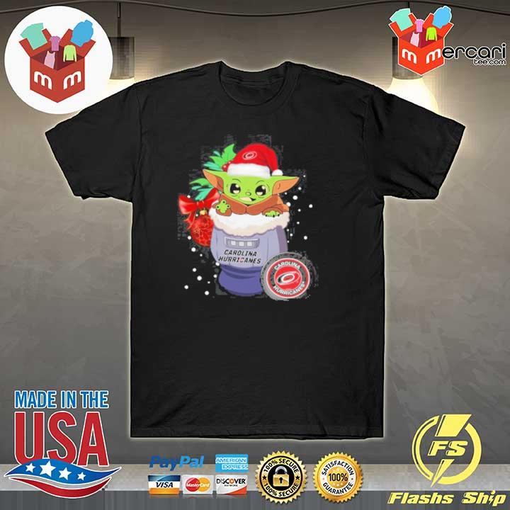 2020 carolina hurricanes christmas baby yoda star wars funny happy nhl sweatshirt