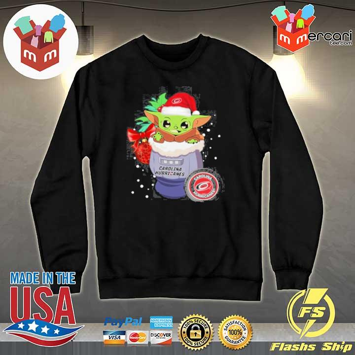 2020 carolina hurricanes christmas baby yoda star wars funny happy nhl sweats Sweater