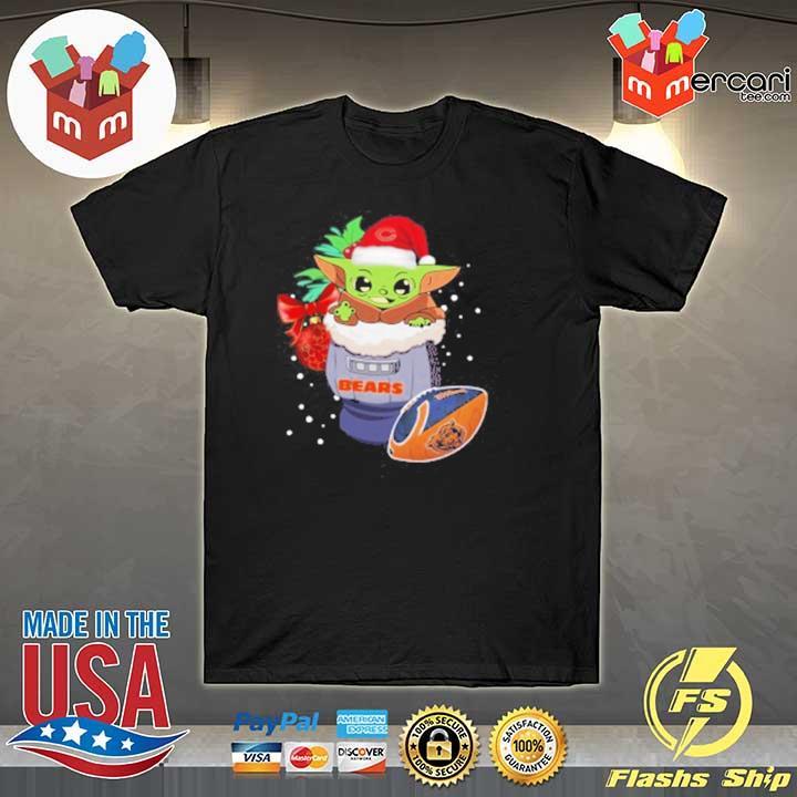2020 chicago bears christmas baby yoda star wars funny happy nfl racerback sweatshirt
