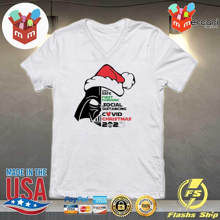 2020 darth vader stay safe first pandemic social distancing covid christmas 2020 sweats V-neck