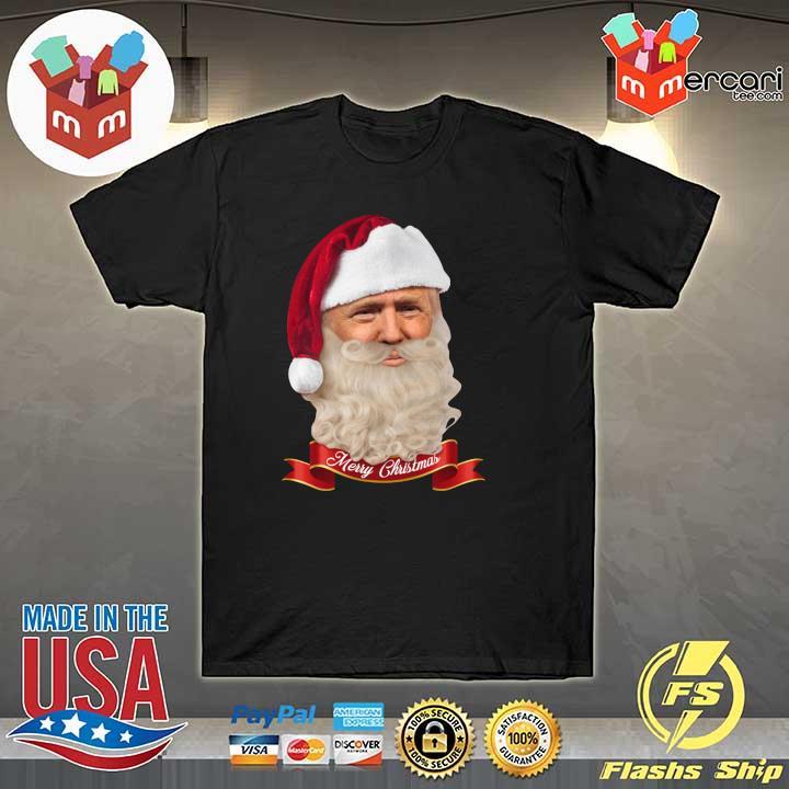 2020 donald trump santa claus merry christmas shirt