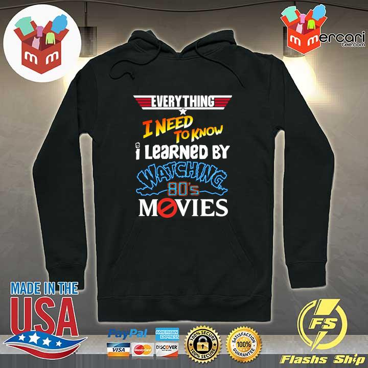 2020 everything i need to know i learned by watching 80s movies sweats Hoodie