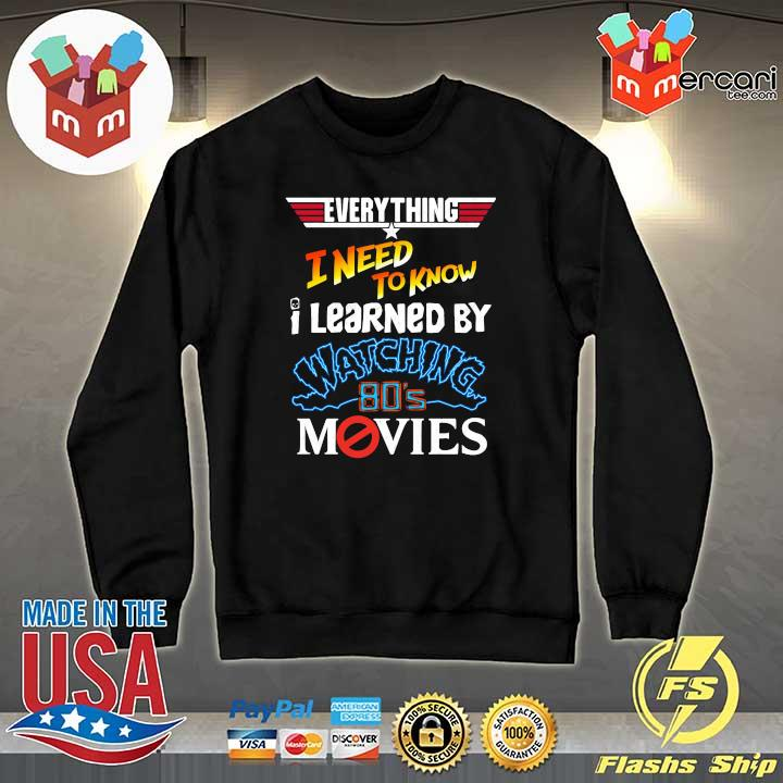 2020 everything i need to know i learned by watching 80s movies sweats Sweater