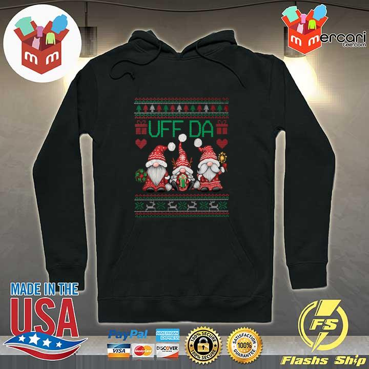 2020 gnomes uff da nisser merry christmas xmas ugly sweats Hoodie