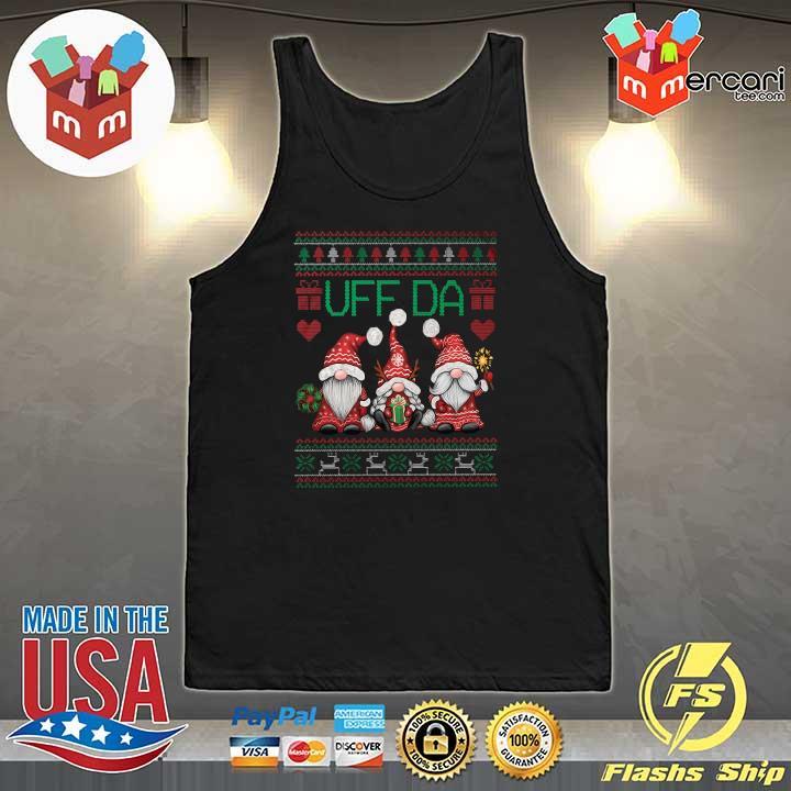 2020 gnomes uff da nisser merry christmas xmas ugly sweats Tank-Top