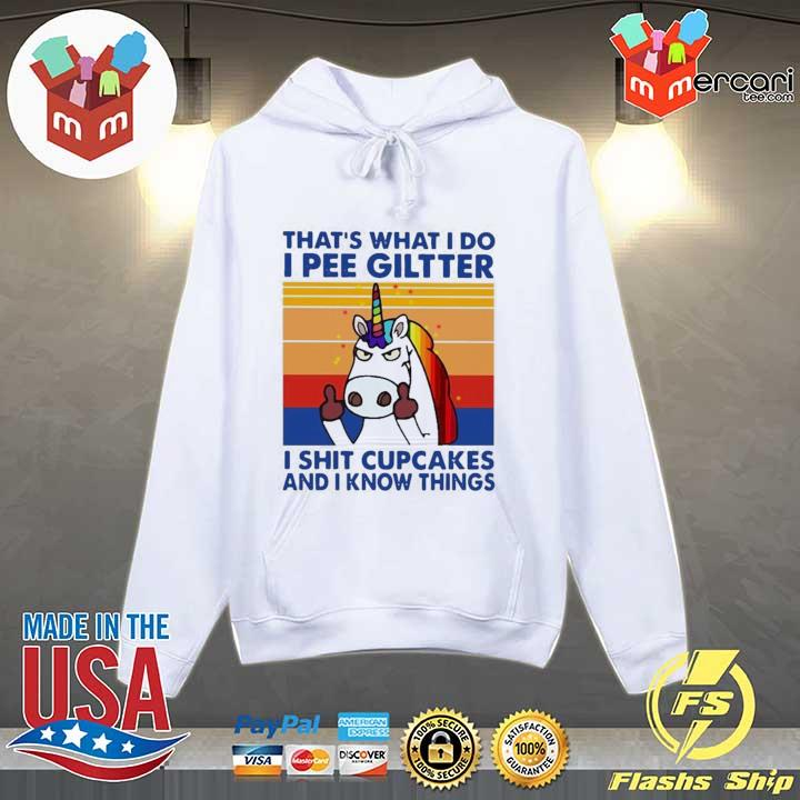 2020 lgbt unicorn that's what i do i pee glitter shit cupcakes and i know things vintage sweats Hoodie